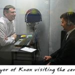 Mayor of Knox visiting the centre